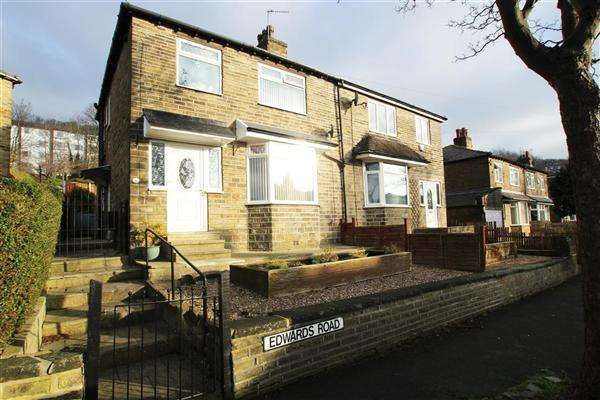 3 Bedrooms Semi Detached House for sale in Edwards Road, Pye Nest, Halifax