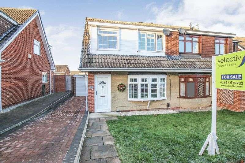 3 Bedrooms Semi Detached House for sale in Hawkstone Close, Guisborough