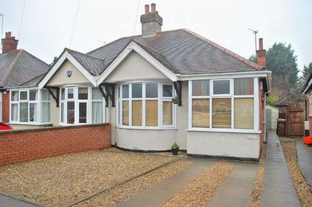 2 Bedrooms Semi Detached Bungalow for sale in Malcolm Drive , Duston, Northampton NN5 5NH