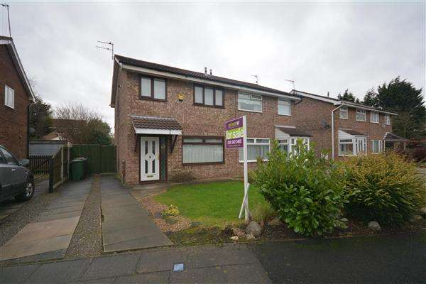 3 Bedrooms Semi Detached House for sale in Tunstall Close, Upton
