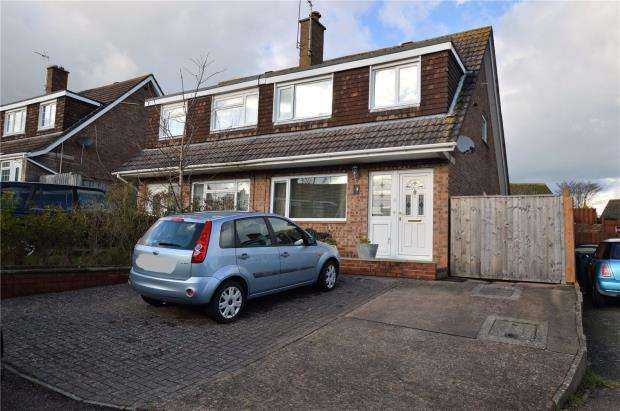 3 Bedrooms Semi Detached House for sale in Spencer Close, Exmouth, Devon