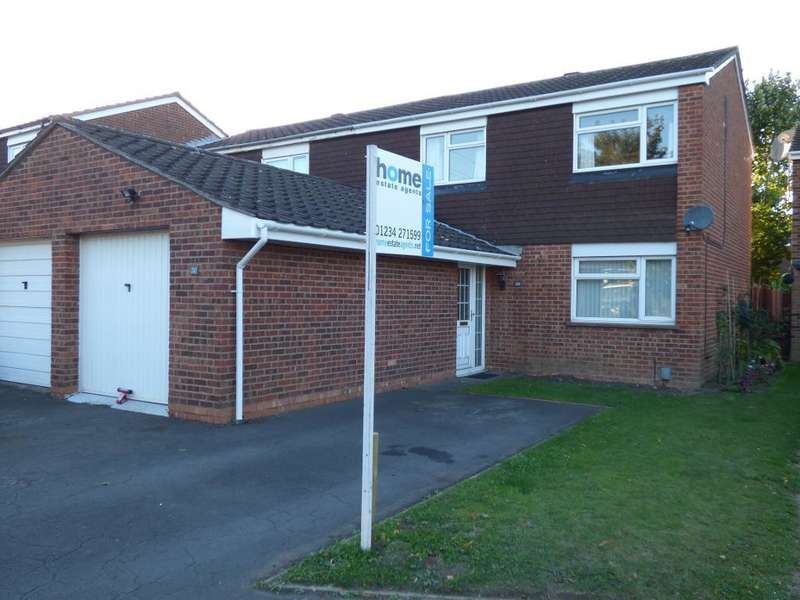 3 Bedrooms End Of Terrace House for sale in Hamsterley Close, Bedford, MK41 0BZ