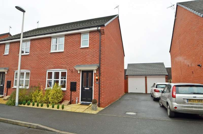 3 Bedrooms Semi Detached House for sale in Teeswater Close, Long Lawford, Rugby