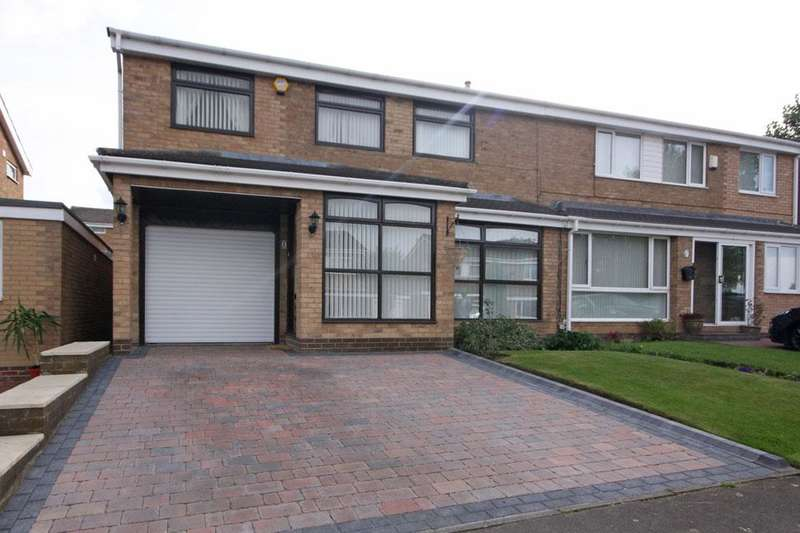 4 Bedrooms Semi Detached House for sale in Worcester Close, Great Lumley, Chester-le-Street DH3 4QQ