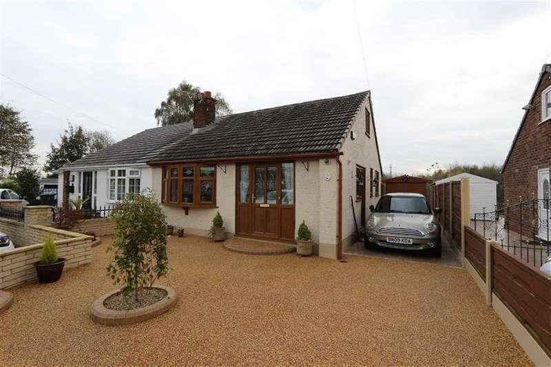 2 Bedrooms Semi Detached Bungalow for sale in 15, Helston Close, Irlam