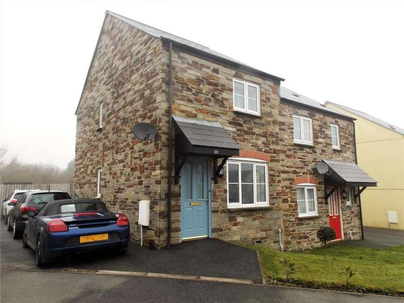 2 Bedrooms Semi Detached House for sale in Netley Meadow, Bugle, St Austell