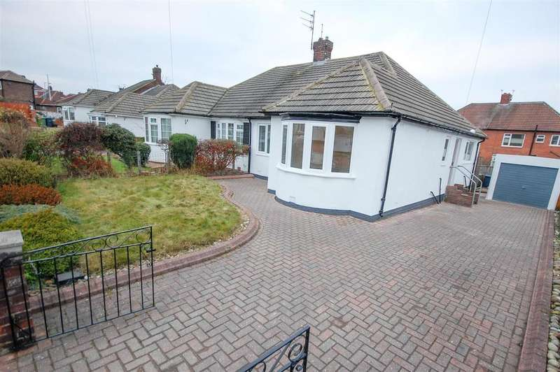 2 Bedrooms Semi Detached Bungalow for sale in Oldstead Gardens, High Barnes, Sunderland