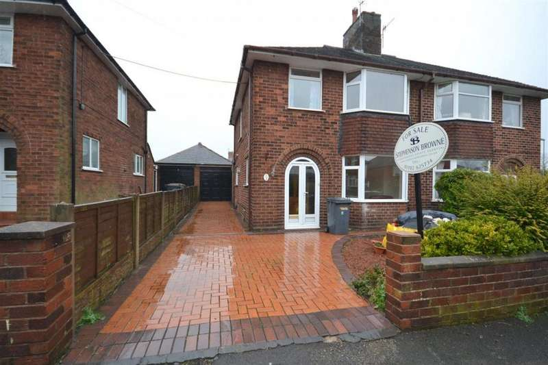 3 Bedrooms Semi Detached House for sale in Templar Terrace, Porthill, Newcastle