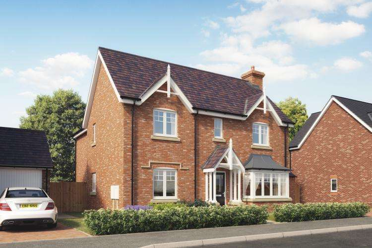 4 Bedrooms Detached House for sale in Plot 8, The Ashford, Church View, Hadnall SY4 3BF