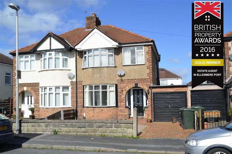 3 Bedrooms Semi Detached House for sale in Laburnum Grove, Whitby, CH66