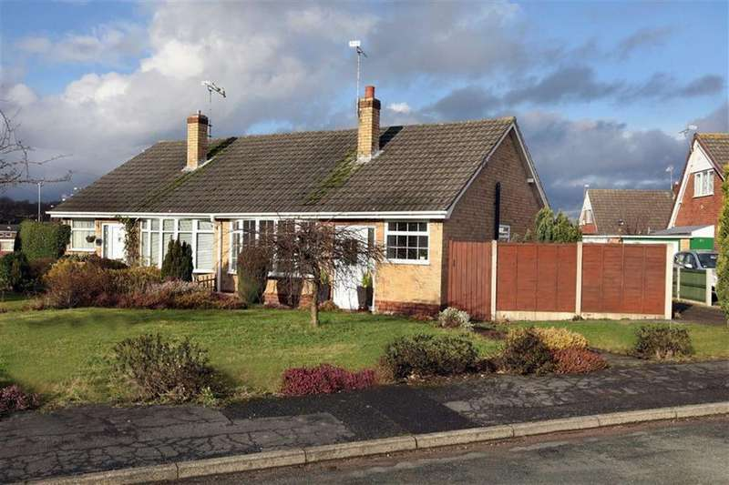 2 Bedrooms Semi Detached Bungalow for sale in Lydgate Close, Crewe
