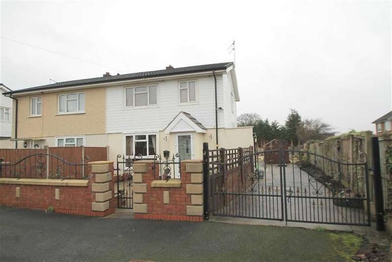 3 Bedrooms Semi Detached House for sale in Bromfield Avenue, Llay, Wrexham