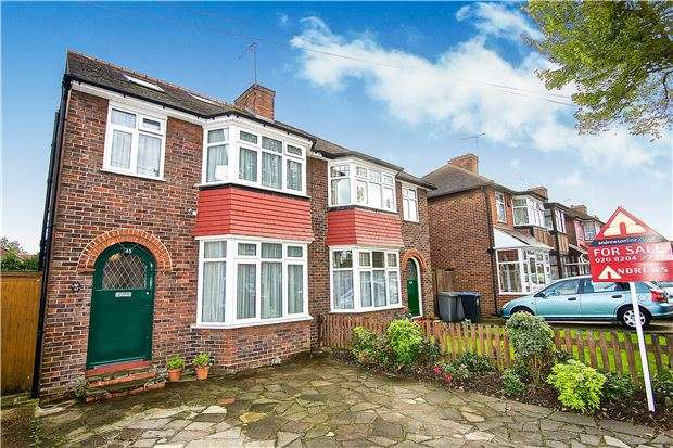 4 Bedrooms Semi Detached House for sale in Tintern Avenue, LONDON, NW9 0RH