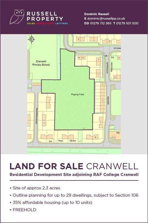 1 Bedroom Land Commercial for sale in Sycamore Drive, Cranwell, SLEAFORD, Lincolnshire
