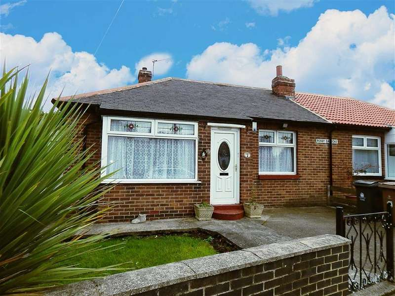 3 Bedrooms Semi Detached Bungalow for sale in Roxby Gardens, North Shields, Tyne And Wear, NE29