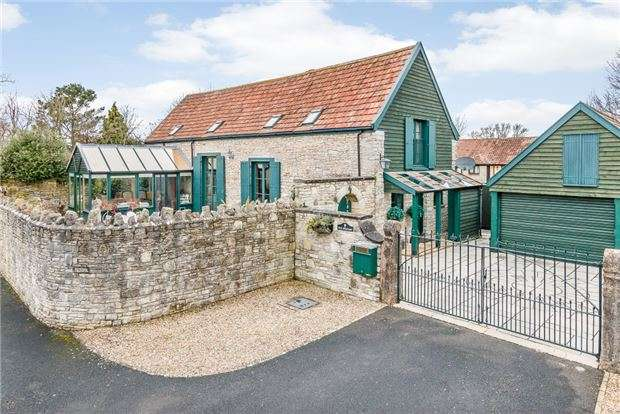 2 Bedrooms Detached House for sale in The Granary, Poolbridge Road, Blackford, WEDMORE, Somerset, BS28 4PA