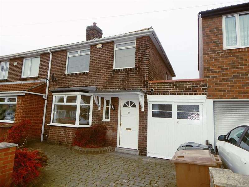 3 Bedrooms Semi Detached House for sale in Kings Road North, Kings Estate, Wallsend, NE28