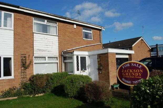 3 Bedrooms Semi Detached House for sale in Chiltern Way, Duston, Northampton NN5 6BP