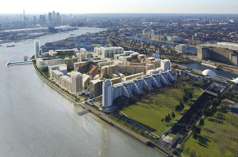 2 Bedrooms Flat for sale in Compass house, Royal Wharf, E16