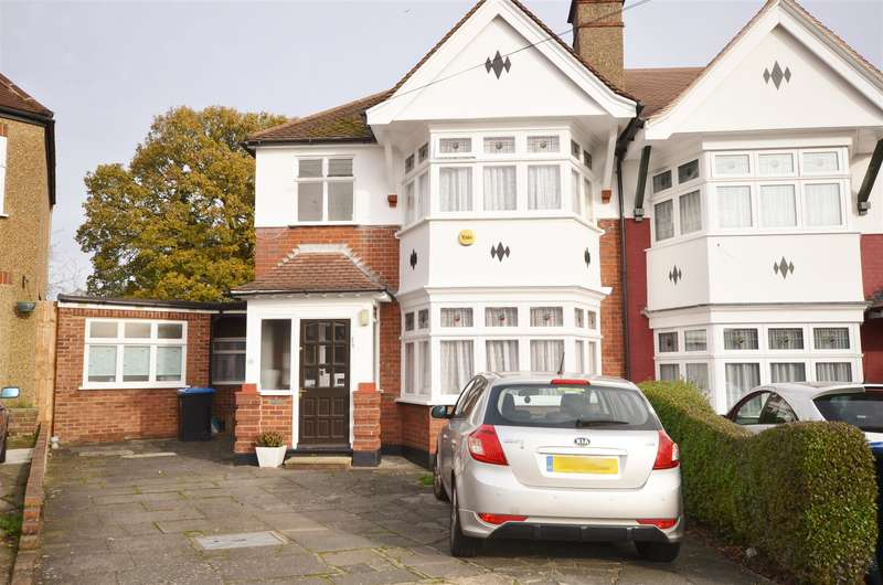 3 Bedrooms Semi Detached House for sale in Bouverie Gardens, Kenton, Harrow, Middlesex. HA3 0RQ