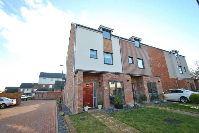 4 Bedrooms Semi Detached House for sale in Twizzelburn, Elba Park, Houghton le Spring, Tyne and Wear, DH4