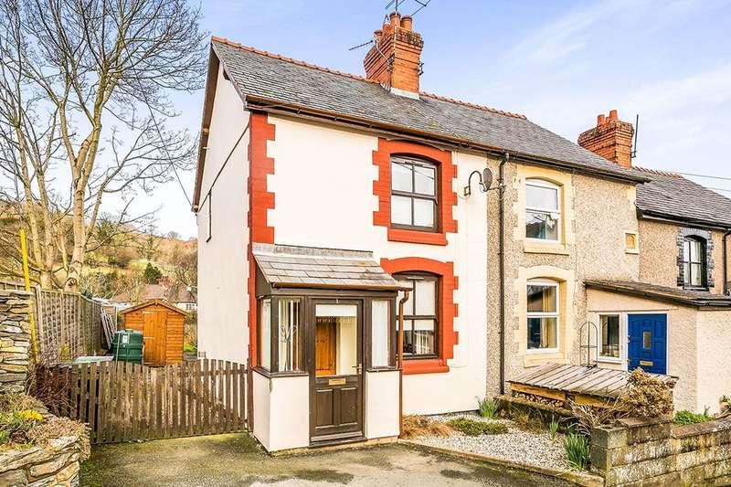 2 Bedrooms Semi Detached House for sale in Ceiriog Terrace, Glyn Ceiriog, Llangollen, LL20