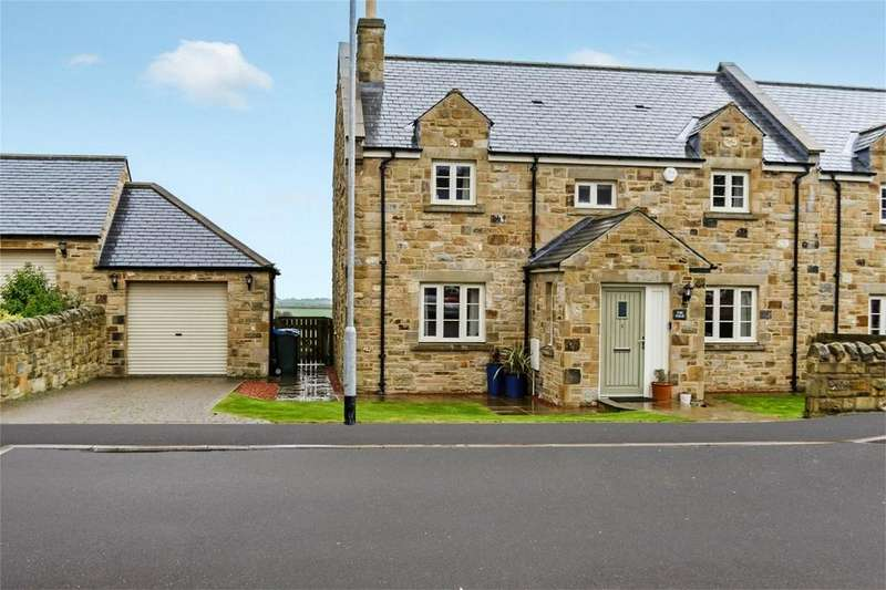 4 Bedrooms Semi Detached House for sale in 8 Rock Home Farm, Rock, Alnwick, Northumberland