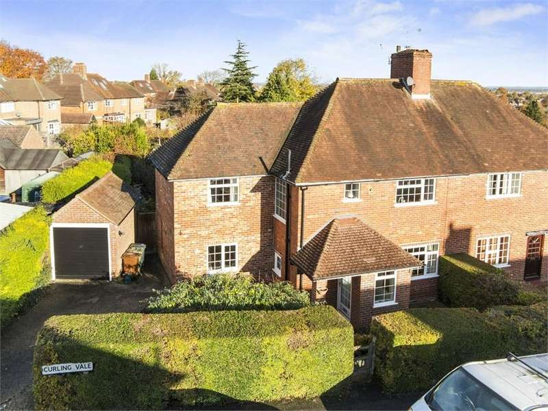3 Bedrooms Semi Detached House for sale in Curling Vale, Guildford, Surrey