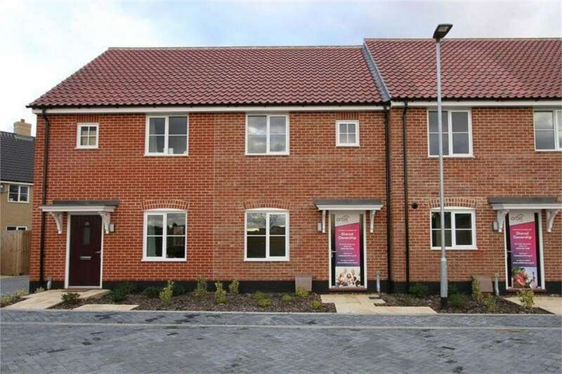 2 Bedrooms Terraced House for sale in Saddlers Rise, Thetford Road, Watton, Norfolk