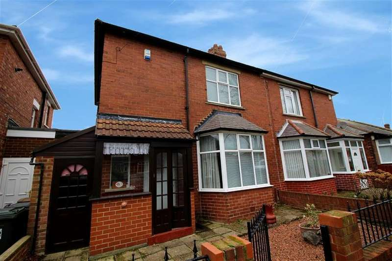 2 Bedrooms Semi Detached House for sale in Roxby Gardens, North Shields