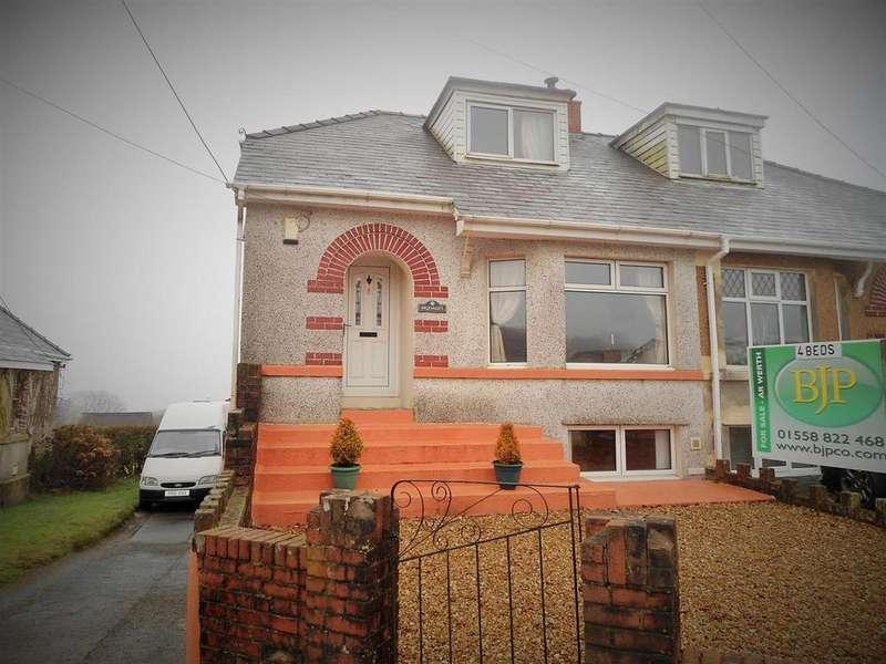 4 Bedrooms Semi Detached House for sale in Llandeilo Road, Carmel, Llanelli