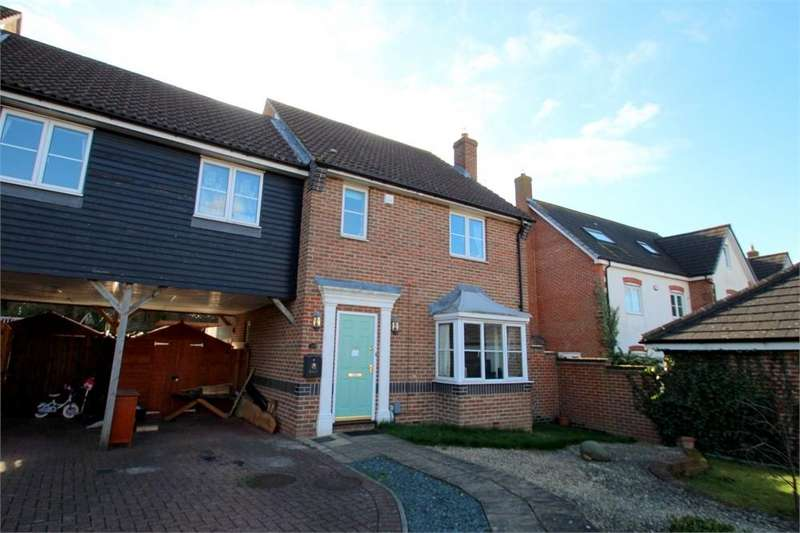 3 Bedrooms End Of Terrace House for sale in Wren Close, Stanway, COLCHESTER, Essex