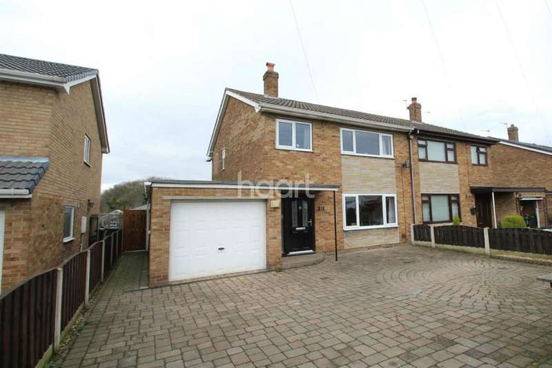 3 Bedrooms Semi Detached House for sale in Yew Tree Crescent , Rossington