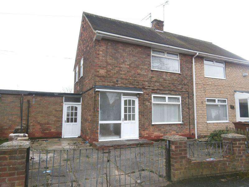2 Bedrooms Semi Detached House for sale in Anson Road, Bilton Grange, Hull,
