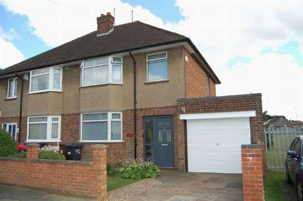 3 Bedrooms Semi Detached House for sale in Fullingdale Road, The Headlands, Northampton NN3 2QJ