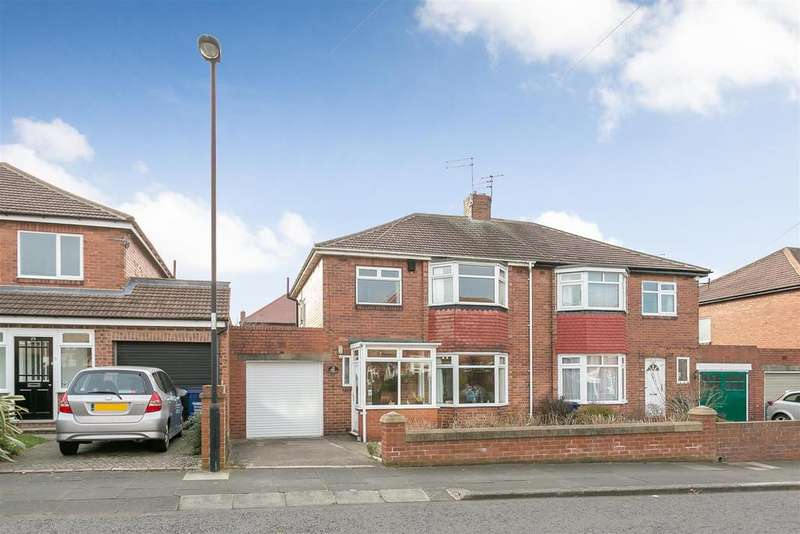 3 Bedrooms Semi Detached House for sale in Rectory Grove, Gosforth, Newcastle upon Tyne