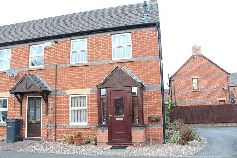 2 Bedrooms Terraced House for sale in Glendower Court, Greenfields, Shrewsbury, SY1 2RG