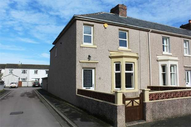 3 Bedrooms End Of Terrace House for sale in Waver Street, Silloth, Wigton, Cumbria
