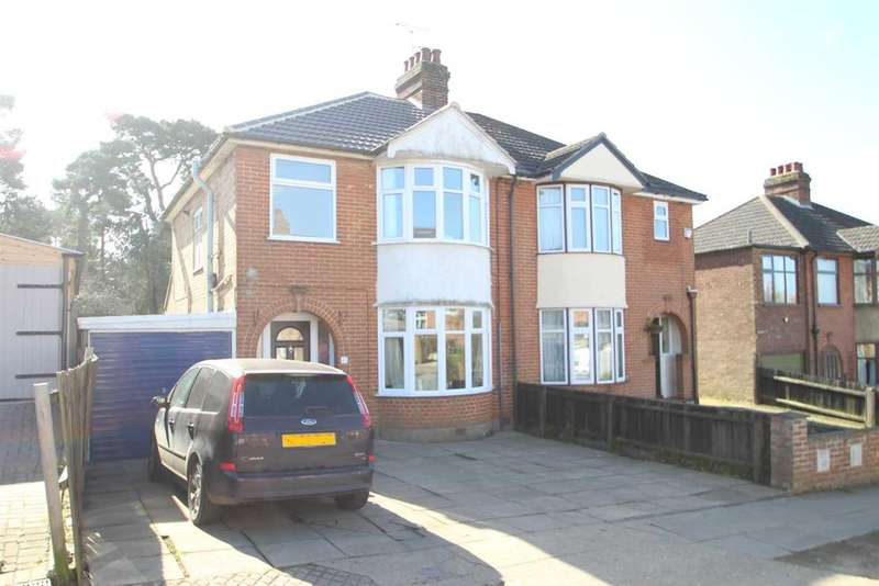 3 Bedrooms Semi Detached House for sale in Pine View Road, Ipswich