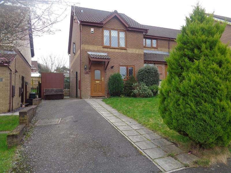 2 Bedrooms Semi Detached House for sale in Rowans Lane, Bryncethin, Bridgend, Bridgend.