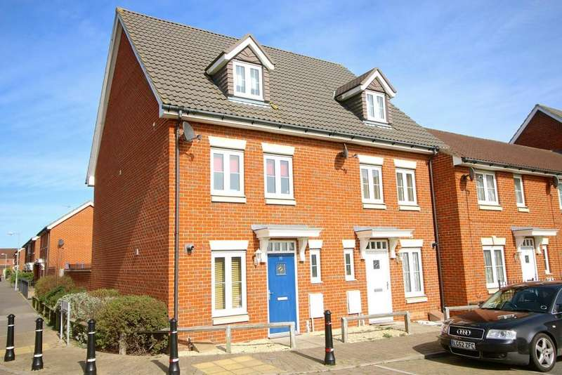 3 Bedrooms Town House for sale in Bull Road, Ipswich