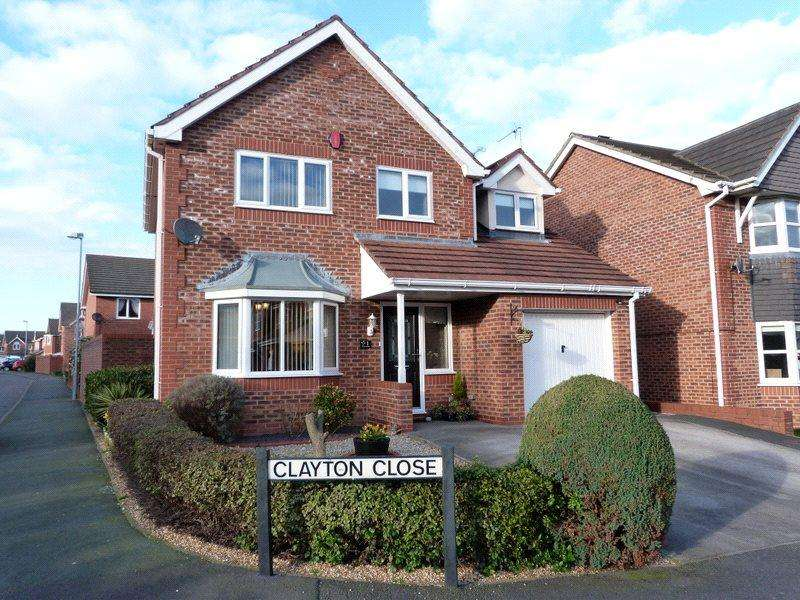 4 Bedrooms Detached House for sale in Clayton Close, Leighton, Crewe, Cheshire, CW1