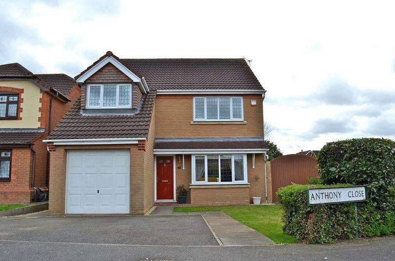 4 Bedrooms Detached House for sale in Anthony Close, Syston