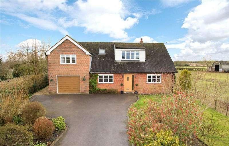 4 Bedrooms Link Detached House for sale in Worminghall Road, Oakley, Aylesbury, Buckinghamshire