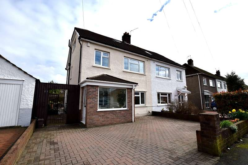 4 Bedrooms Semi Detached House for sale in Heol Coed Cae, Whitchurch, Cardiff. CF14 1HJ
