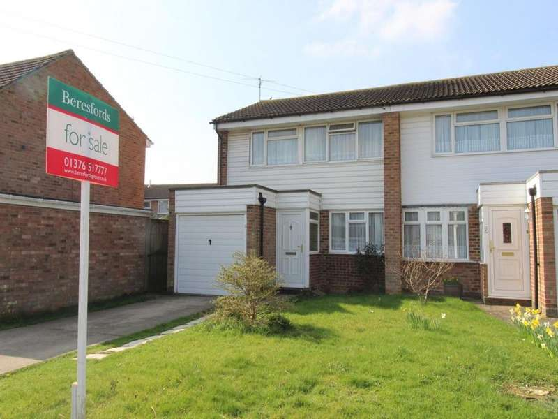 3 Bedrooms Semi Detached House for sale in Abraham Drive, Silver End, Witham, CM8