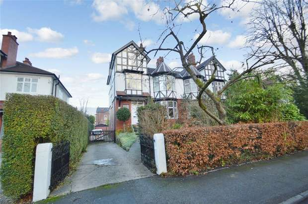 6 Bedrooms Semi Detached House for sale in Davenport Park Road, Davenport, Stockport, Cheshire