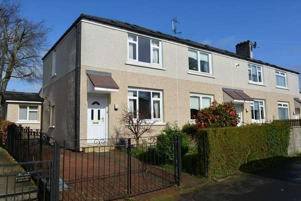 2 Bedrooms End Of Terrace House for sale in 161 Culrain Street, Sandyhills, Glasgow, G32 7UD