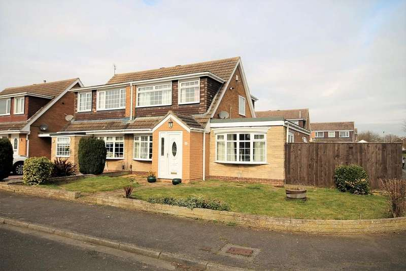 3 Bedrooms Semi Detached House for sale in Kirkwall Close, Stockton-On-Tees