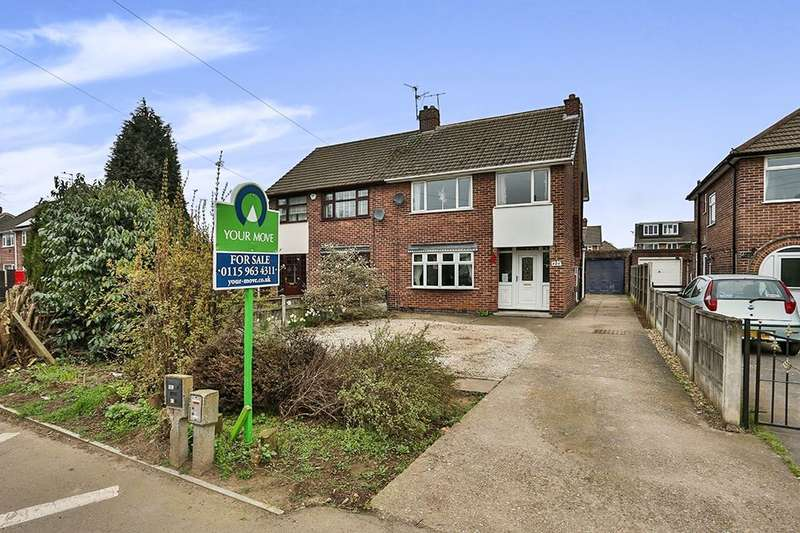 3 Bedrooms Semi Detached House for sale in Watnall Road, Hucknall, Nottingham, NG15